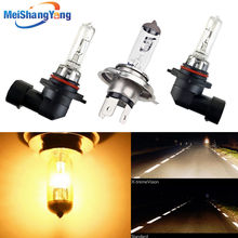 Farol de carro super brilhante, lâmpada halógena 100w h1 h3 h4 h7 h8 h11 9005 hb3 9006 hb4 12v luz de condução clara da neblina, 55w 4300k