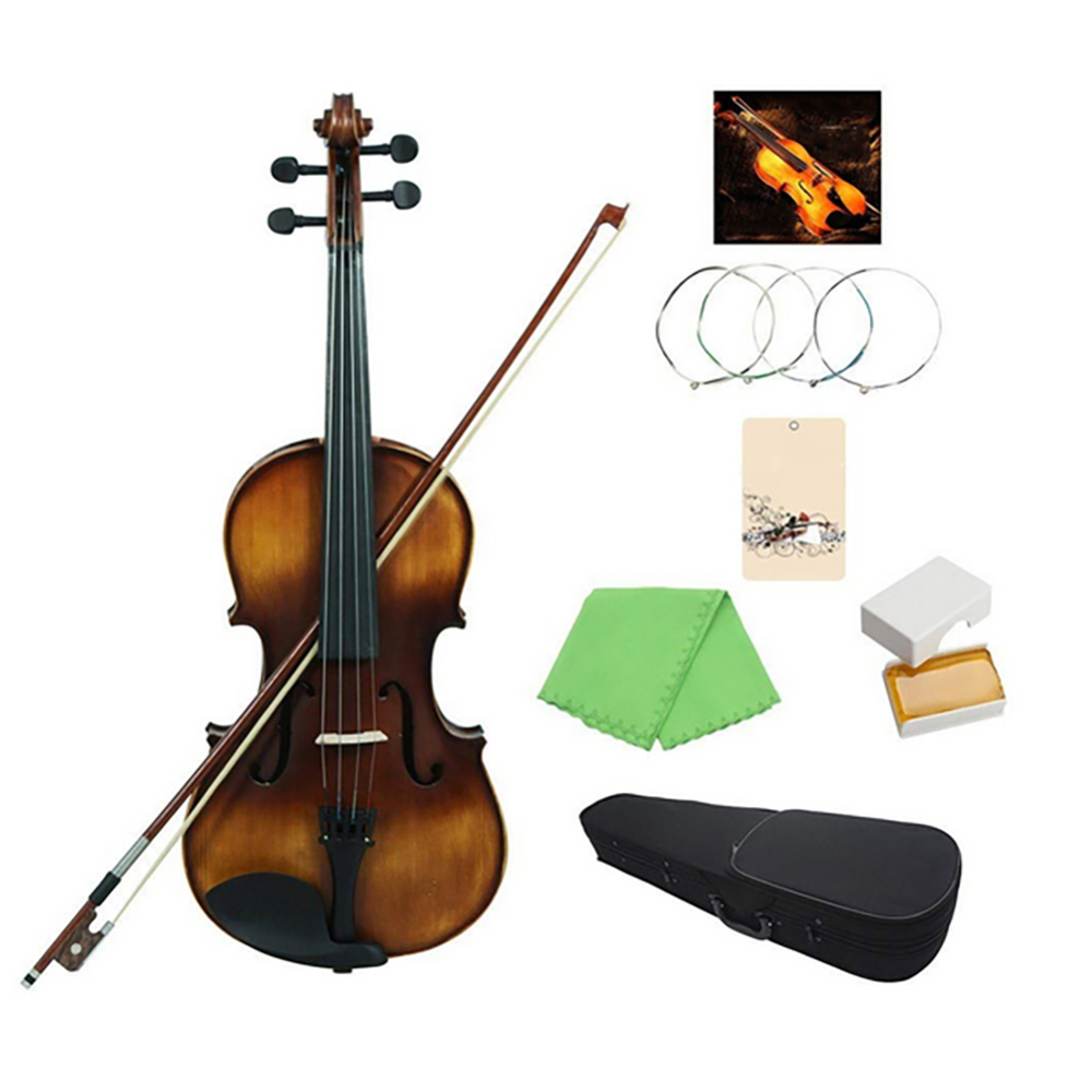VLA-30 4/4 Classic Viola Spruce Topboard Rosewood Fingerboard with Carrying Case Rosin Cleaning Cloth Violin Strings