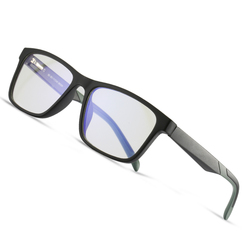 AOFLY BRAND DESIGN Blue Light Blocking Glasses Men Square TR90 Optics Frame Fashion Computer Gaming Eyewear Male UV400