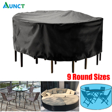 Outdoor Garden Furniture Cover Round Table Chair Set Waterproof Oxford Wicker Sofa Protection Patio Rain Snow Dustproof Covers