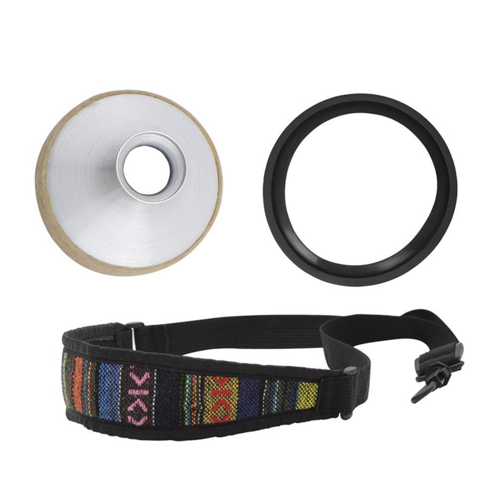 3pcs Alto Saxophone Silencer Set Aluminum Alloy Mute+Mute Ring+Ethnic Neckband Woodwind Instrument Accessories