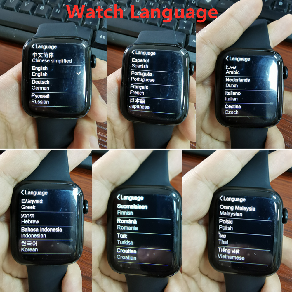 Hb0a16228844d4756bc0884139abd6ab2y 2021 Original IWO W26 W46 Smart Watch Men/Women Heart Rate/Blood Pressure Monitor Clock Smartwatch For Android IOS PK HW22 HW16