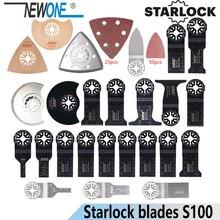 Newone starlock lâminas s6/s9/s14/s18/s66/s100 ferramenta oscilante lâmina de serra para corte de madeira plástico polonês telha cerâmica remover sujo