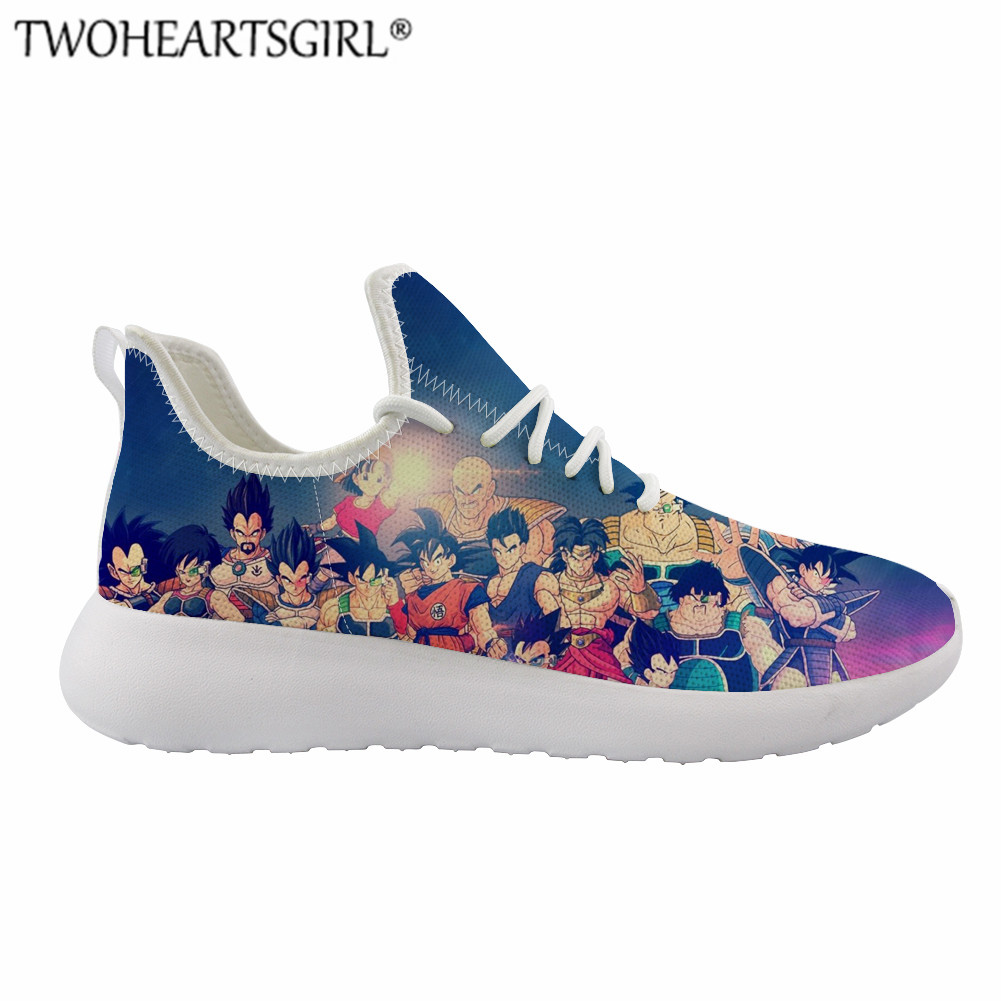 FORUDESIGNS DRAGON BALL Z Shoes Casual Men Cartoon Printing Sneakers For Teenager Boy Lightweigh Footwear Cool Lace-up Shoes Men