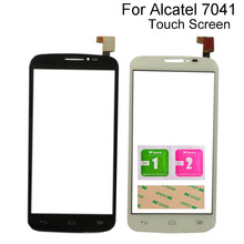 цена на Touch Screen Digitizer Panel For Alcatel One Touch Pop C7 7041 OT-7041D 7041X 7040E 7041D Touch Screen Mobile Sensor 3M Glue