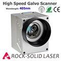 Высокоскоростная головка сканера Galvo для лазерной маркировочной машины 405nm синий фиолетовый луч гальванометр с комплектом питания
