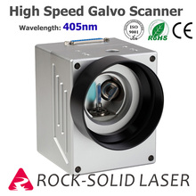 High Speed Galvo Scanner Head For Laser Marking Machine 405nm Blue Violet Ray Galvanometer with Power Supply Set galvo scanner