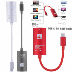 4K USB C Type-C to HDMI Mobile Phone HDTV Adapter Cable for MacBook Samsung