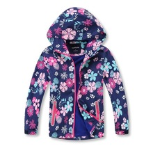 Girls Jackets Children Outerwear Warm Coat Waterproof Windproof Sporty Kids Clothes Double-deck For 3-14 Years Old