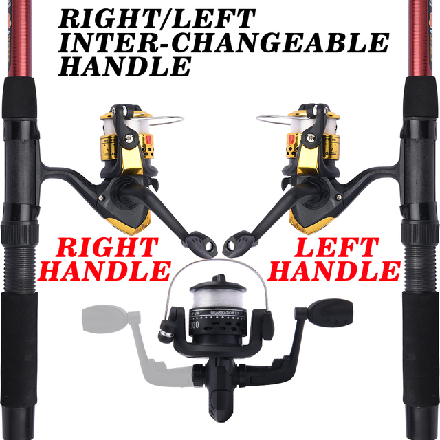 Fishing Rod and Reel Full Kits with Telescopic Fishing Rod and Reel Baits Hooks Saltwater Freshwater Travel Pole Set 4