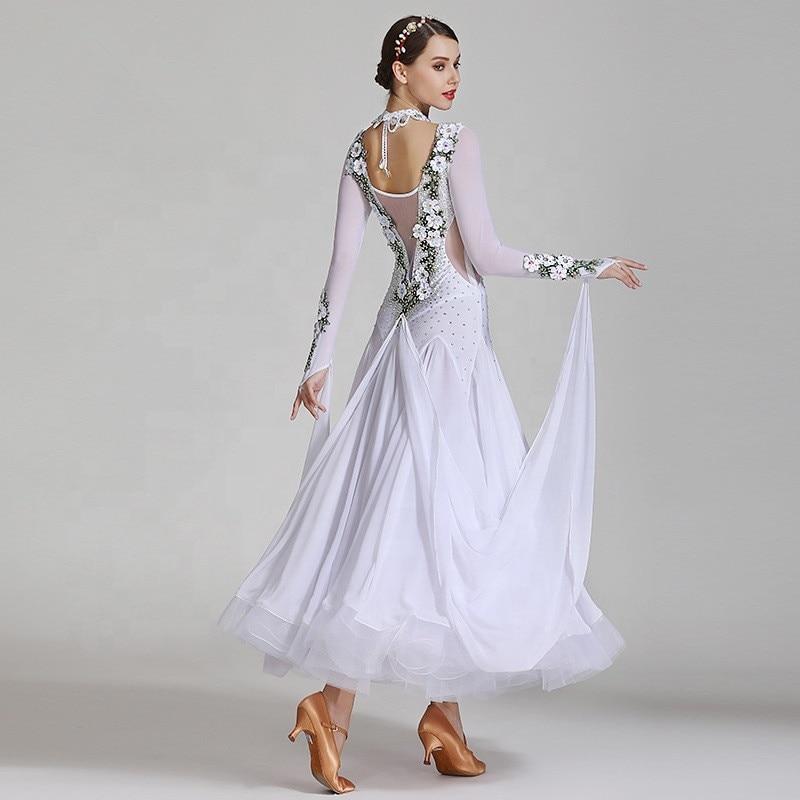 Haute Couture luxe autrichien diamant moderne danse robe robe GB danse Costume compétition