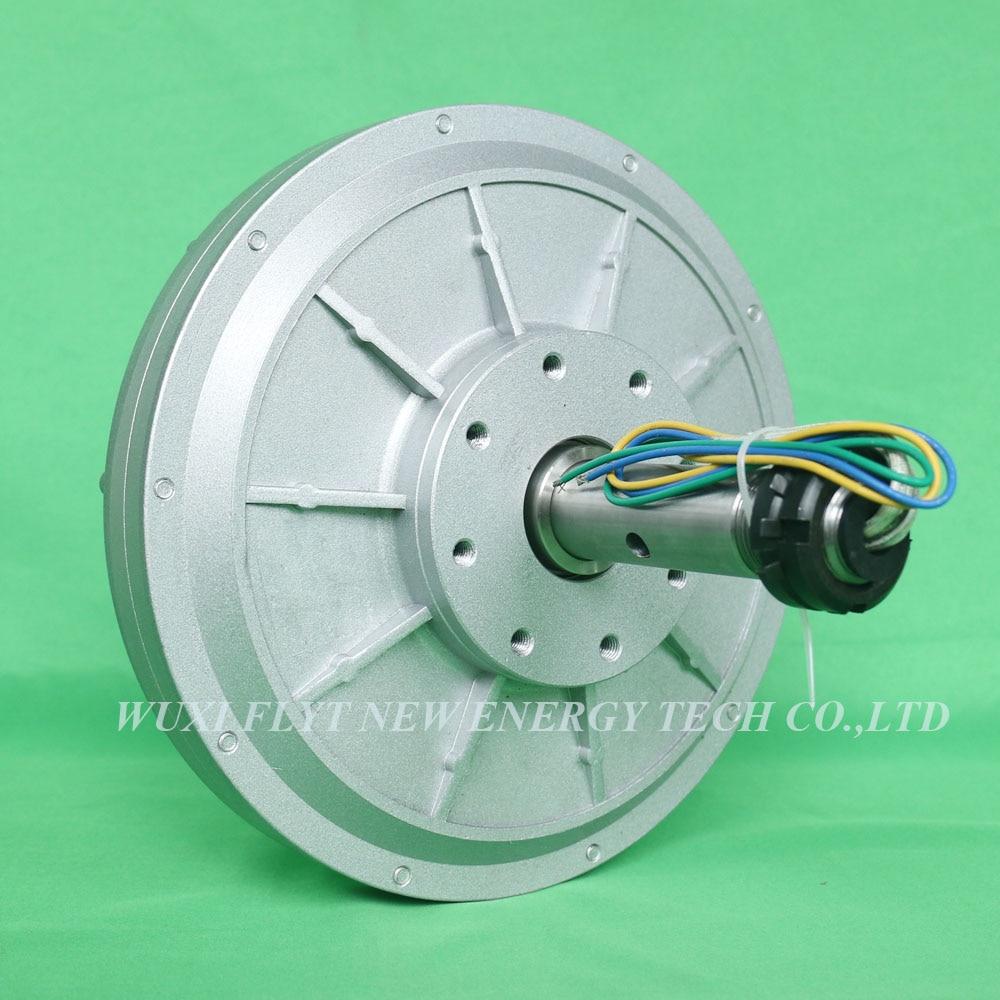 2KW 96v 120v 220v 380v Coreless Rare Earth Permanent Magnet Generator Low RPM 130rpm 2000w generator