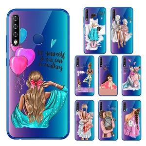 Transparent Case For Infinix Hot 8 Case Fashion Super Mom Baby Girl Case For Infinix S4 Smart 3 Plus Phone Capa Etui Hot8 3plus