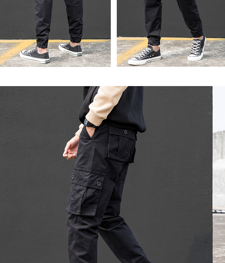 KSTUN Cargo Pants Men Summer Thin Male Overalls Loose fit Trousers casual pants joggers men's clothing brand soft 100% cotton 24