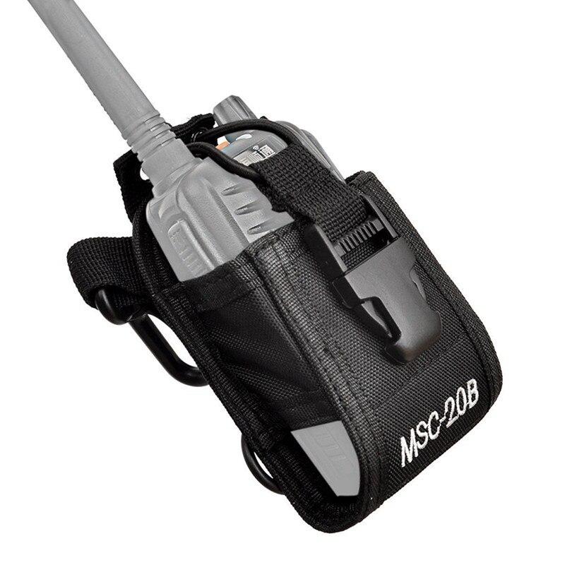 MSC-20B Walkie Talkie Bag Nylon Holster Carry Case For Baofeng UV5R UV82 Bf888S UV-9R Plus UV-B2 TYT Motorola KENWOOD Ham Radio