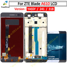 For ZTE Blade A610 LCD Display Touch Screen HD Digitizer Assembly lcd with frame Version 318 / A241 / YASSY For ZTE A610 lcd