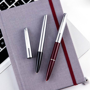 Image 4 - Haute qualité luxe HERO 100 stylo plume coffret cadeau classique calligraphie 14K or encre stylo école bureau écriture fournitures