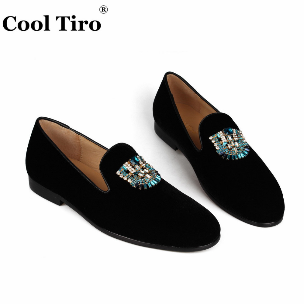 VELVET Loafers SLIPPERS with Crystal brooch (6)