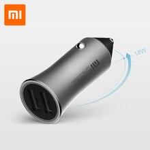 Xiaomi 37W Autolader Snel Mobiele Telefoon Auto Lader Snel Opladen Twee Usb Uitgangen Rapid Opladen Witte Led prompt Licht