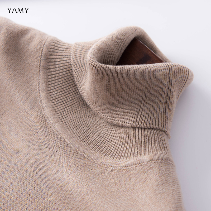 Turtleneck Cashmere Womens Knit Pullovers 12 Colors Casual Women Sweaters Long Sleeve Jumpers Streetwear Fall Sweaters Tops 2019