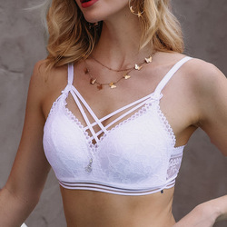3Colors Front Strap Women Bra Underwear Push Up Bra Lace Bralette Sexy Brassiere Female Bras Intimate Lingerie Plus Size B/C Cup
