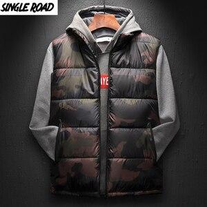 Image 1 - SingleRoad Winter Vest Men 2019 Camouflage Bodywarmer Sleeveless Jacket Male Ultralight Warm Black Mens Cotton Coat Windproof