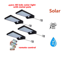 2/4pcs Solar outdoor light of garden LED Street Light Sensor foco Solar Power Lamp waterproof Garden security spotlight free shi
