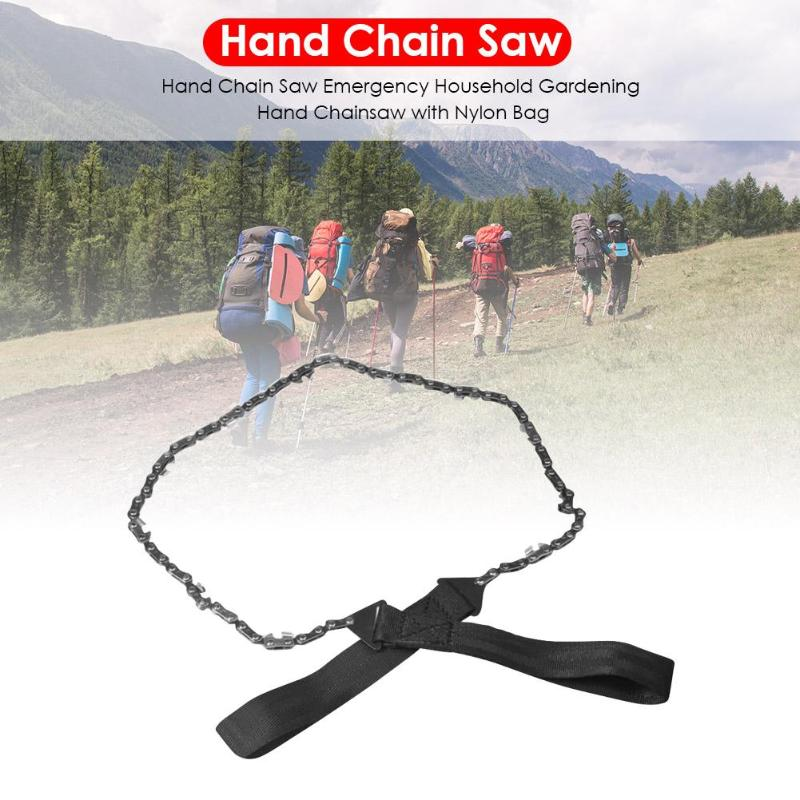 Emergency Pocket Chainsaw Outdoor Survival Gear Long Chain Hand Saw Camping Tool Classic Colors And Simple Durable Design