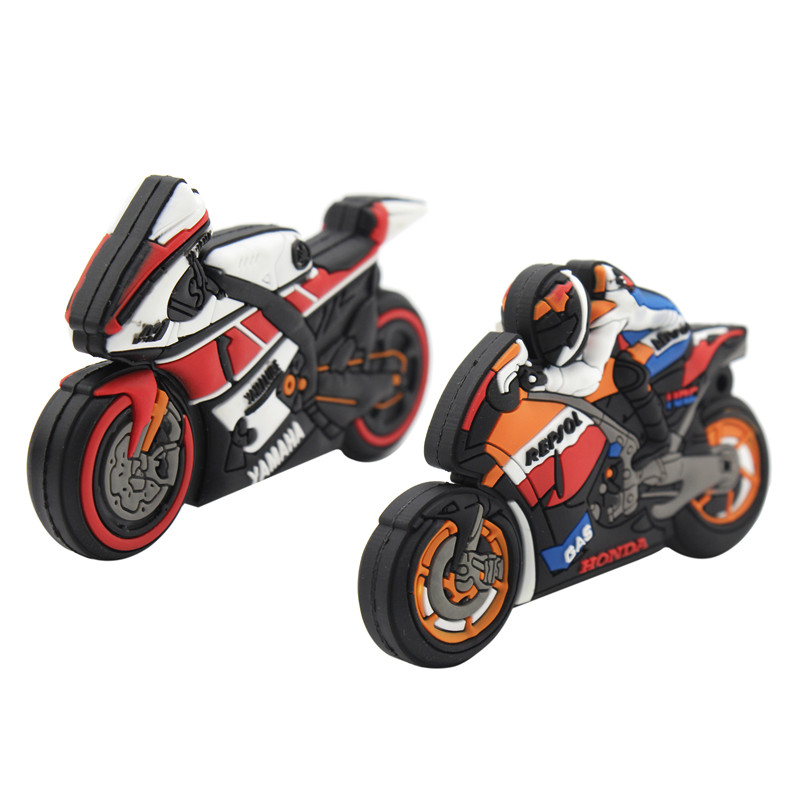 TEXT ME Cartoon Cool Men's Motorcycle Racer Usb Flash Drive Usb 2.0 4GB 8GB 16GB 32GB 64GB Pendrive Gift  Love