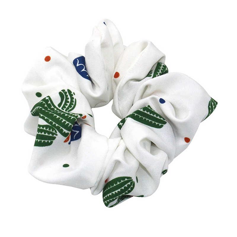 Thun Đầu Trang Xương Rồng In Hairbands Phụ Kiện Tóc Dành Cho Nữ/Cô Gái Tóc Scrunchie Đuôi Ngựa Tóc Scrunchies