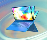 2021 new 13.3 inch Mini PC Windows 10 Touch Laptop J3355/N3450 Fingerprint recognition 360 degree rotation Netbook laptop gamer 1