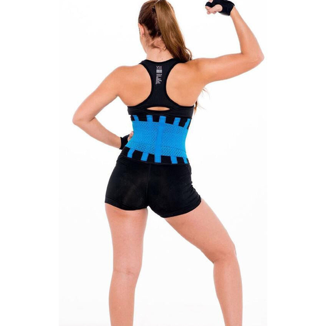 Meihuida Women Trimmer Gym Fitness Sport Shapewear Sweat Belt Waist Cincher Trainer Gym Body Underwear Body Building Shaper 5