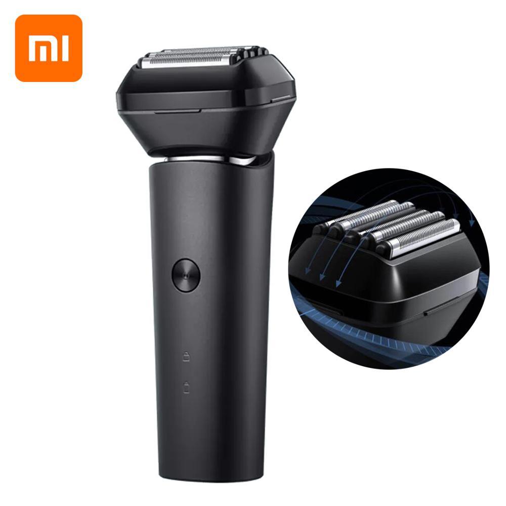Xiaomi Mijia elektrikli tıraş makinesi erkekler pistonlu jilet tipi-c şarj edilebilir 5 kesici kafaları 15,000rpm su geçirmez çok yönlü Flo