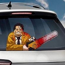 1PCs Chainsaw Massacre Waving Wiper Decal Sticker OEM PVC Car Styling Rear Window Stickers Windshield Decals
