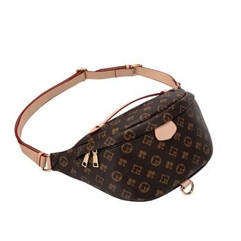 Vintage Chest Bag for Women and Men Pu Leather Designer Luxury Waist Bag Female Fanny Pack Hobos Belt Shoulder Crossbody Bags
