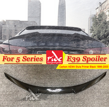 Fit For BMW E39 Spoiler M4 Style Carbon Fiber Tail Wing 5-Series 520i 530i 540i 550iXD Gloss Black Trunk wing 1996-2003
