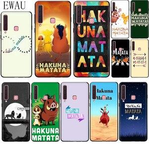 EWAU hakuna matata Silicone phone case for Samsung A2 Core A5 A6 plus A7 A8 A9 A10s 20s 20E 30s 40s 50s 60 70S