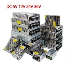Трансформаторы для освещения, источник питания 5 В, 12 В, 24 В, 36 В постоянного тока, адаптер 1 А, 2 А, 3 А, 5 А, 6 А, 8 А, 10 А, 15 А, 20 светодиодный для светодиодных лент