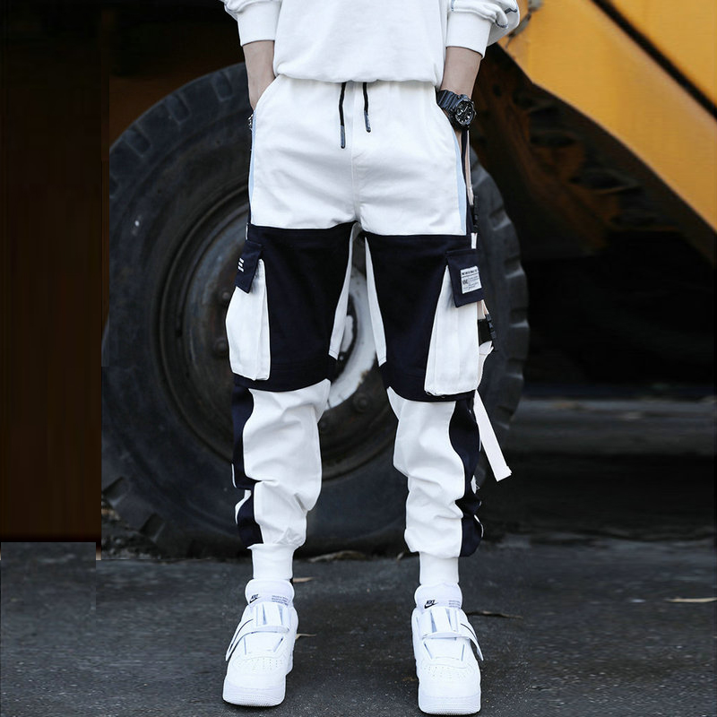 2020 New Fashion Harem Pants Men Overalls Streetwear Lightweight Hip Hop Casual Trousers Joggers Male Sweatpants Men