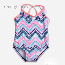 cute baby girls swimwear girl one piece ulticolor striped with bowknot 2-8Y girls  swimsuit kid/children swimming Suit sw0811 cute baby girl swimwear girl one piece light blue with little flower pattern 2 4y swimsuit kid children swimming suit sw0603