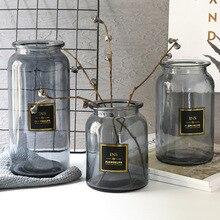 Стеклянная ваза скандинавского дизайна, европейская декоративная ваза для дома, цветочная композиция, гидропонная Настольная Ваза для украшения цветов