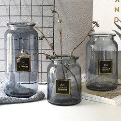 Nordic Design Vaso di Vetro Europeo Decorazione Della Casa Del Fiore Vaso di Fiori Idroponica Tavolo Vaso Per La Decorazione Floreale