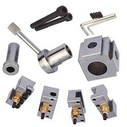 Zestaw uchwytów stalowych Mini tokarka szybka wymiana narzędzie wytaczanie ostrze toczenie zestaw świeczników zmień narzędzie