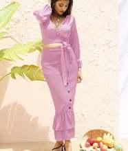 2021 v образным вырезом повязки Для женщин комплекты с длинным