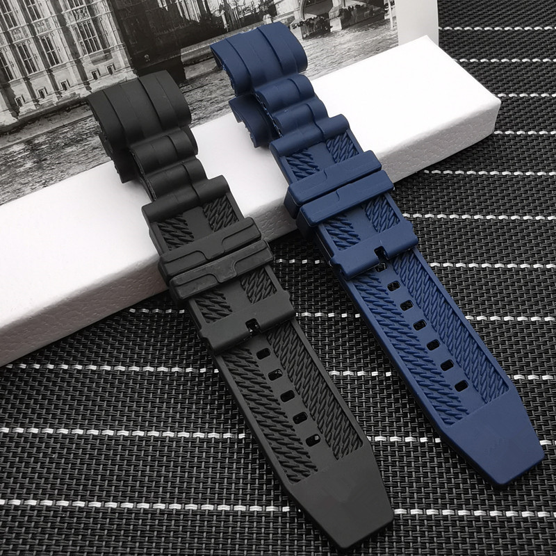 Top quality  26mm Black Blue watchband Waterproof Rubber for Subaqua Watch Band Belt For Invicta strap|Watchbands| |  - AliExpress