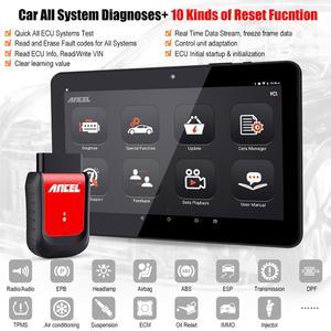 Image 2 - Ancel x6 Bluetooth OBD2 Scanner ABS Airbag Öl EPB DPF Reset Professionelle OBD2 Automotive Scanner Freies Update Auto Diagnose Werkzeug