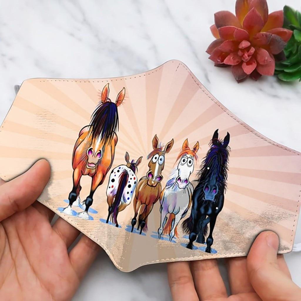 2020 nova unisex adulto cavalo animal engraçado expressão impressão rosto ao ar livre boca respirável ciclismo festa máscara mascararilla 1pc
