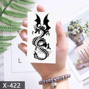 Waterproof Temporary Tattoo Sticker 10.5*6 cm Dragon Tattoo Water Transfer Fake Tattoo Flash Tattoos For Men Women #422 1