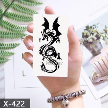 Waterproof Temporary Tattoo Sticker 10.5*6 cm Dragon Tattoo Water Transfer Fake Tattoo Flash Tattoos For Men Women #422 1