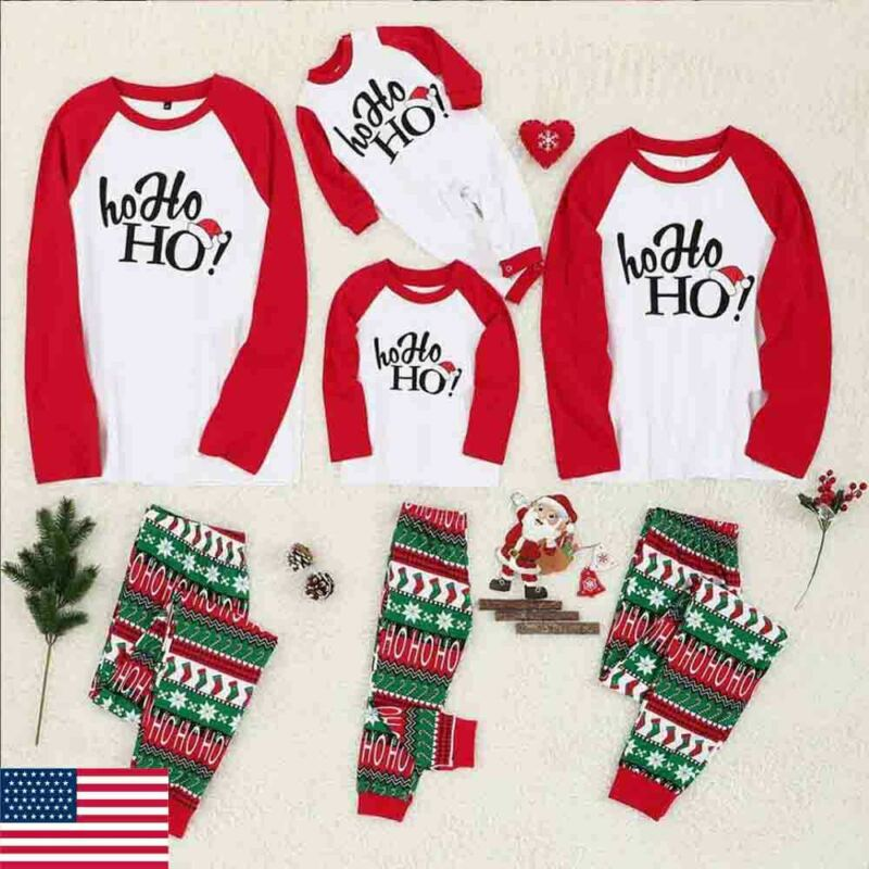 Family Christmas <font><b>Pajamas</b></font> For XMAS Letter Print Adult Women Kid Family Matching <font><b>Mother</b></font> <font><b>Daughter</b></font> Clothes <font><b>Pajamas</b></font> <font><b>Sets</b></font> Outfits image
